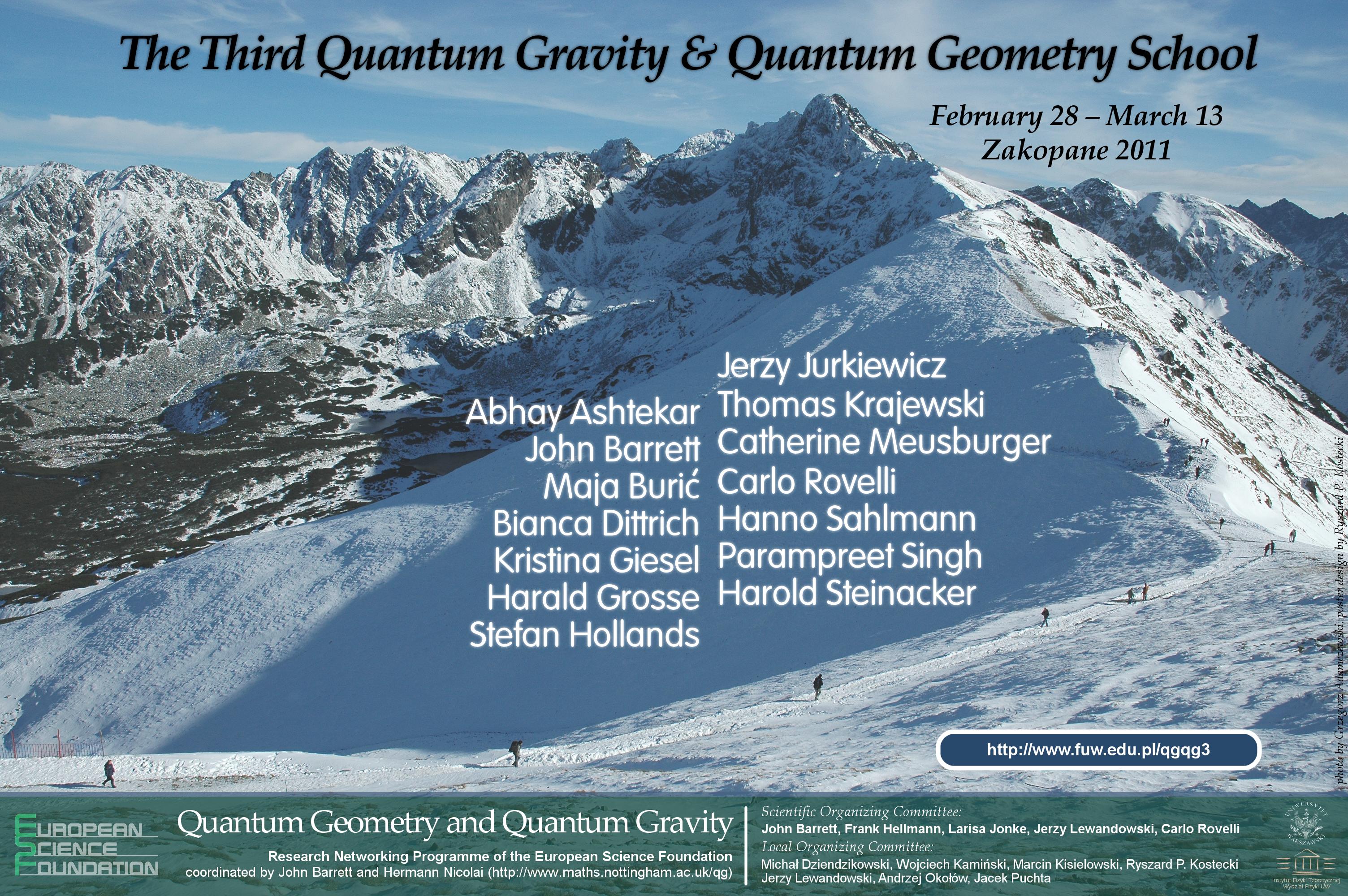 The 3rd Quantum Geometry and Quantum Gravity School
